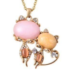 Jewelry - Genuine Rose Quartz & Multi Gems Necklace.11.30cwt